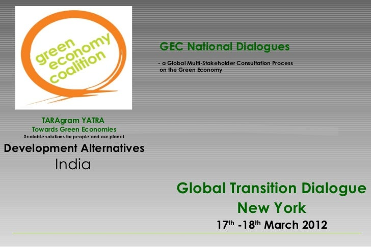 GEC National Dialogues                                                  - a Global Multi-Stakeholder Consultation Process ...