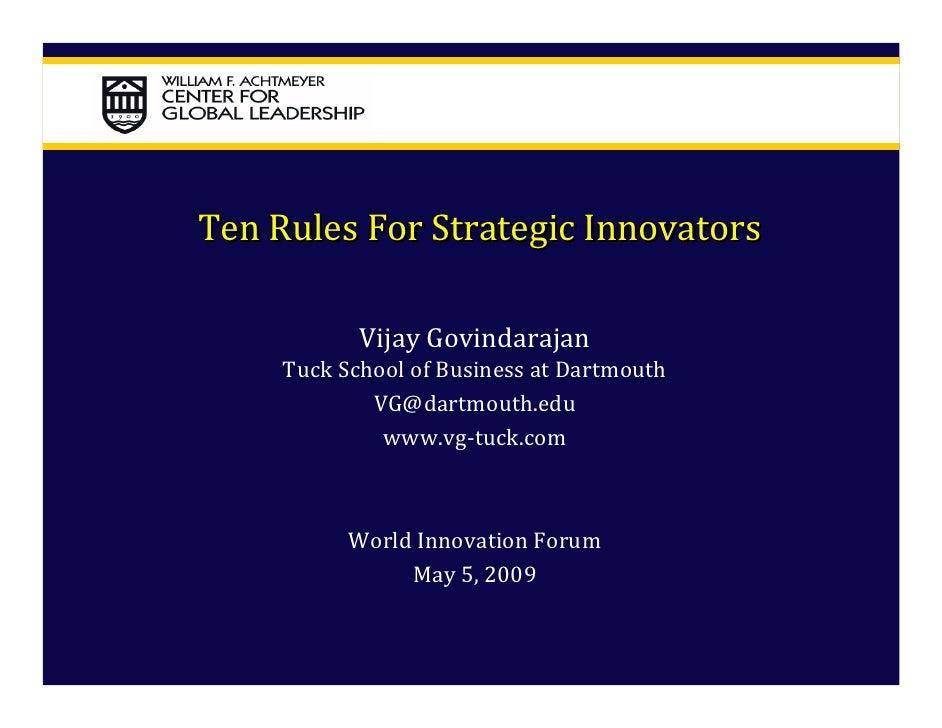 Vijay Govindarajan - World Innovation Forum