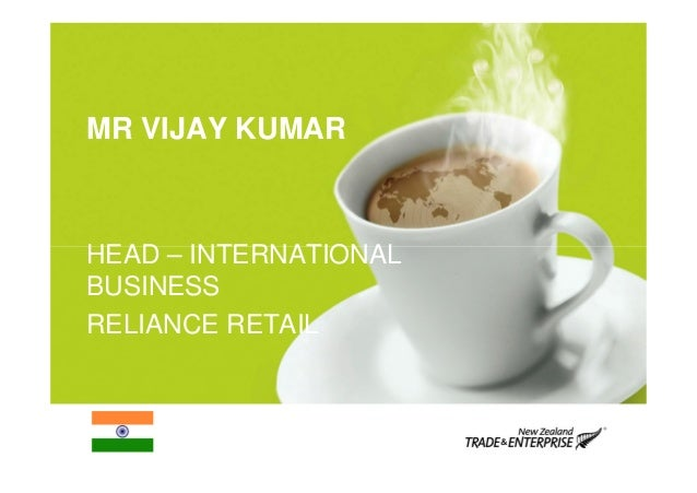 Vijay kumar   reliance retail presentation