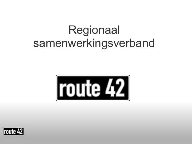 <ul>Regionaal samenwerkingsverband </ul>