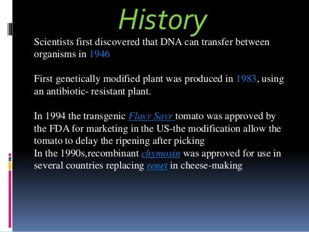 an introduction to the issue of genetic modification of organisms