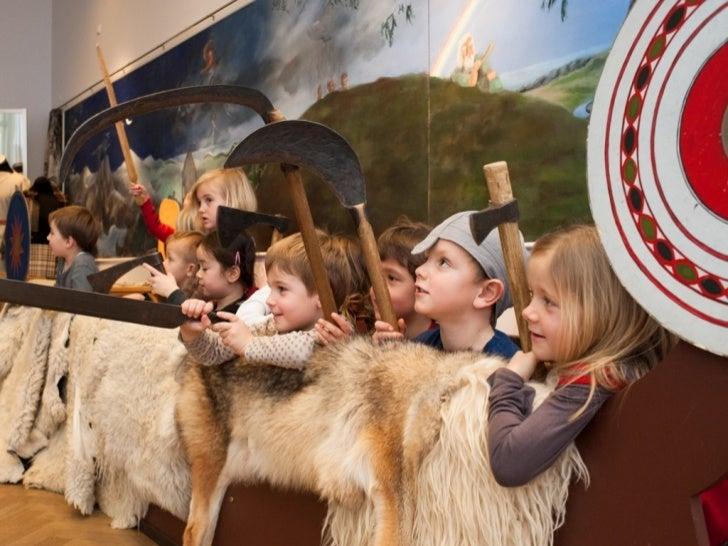 """Underviser: Ditte Kroner Gaarde     Fotograf: www.jacobnyborg.dk     Fotos fra undervisningsforløbet:""""Vikingerne ude og hj..."""