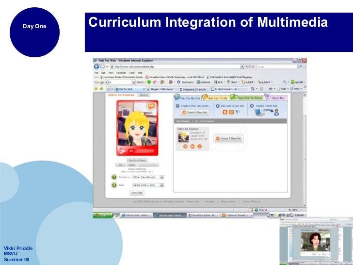 Curriculum Integration of Multimedia
