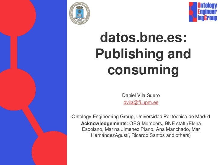 datos.bne.es: Publishing and consuming