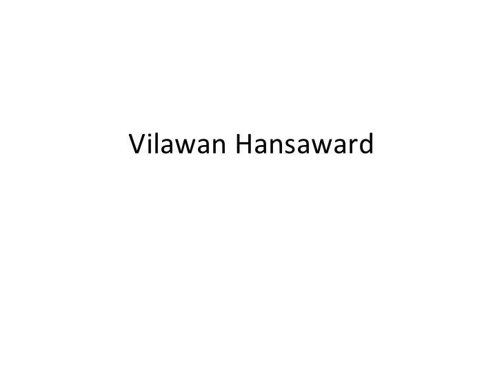 Vilawan hansaward