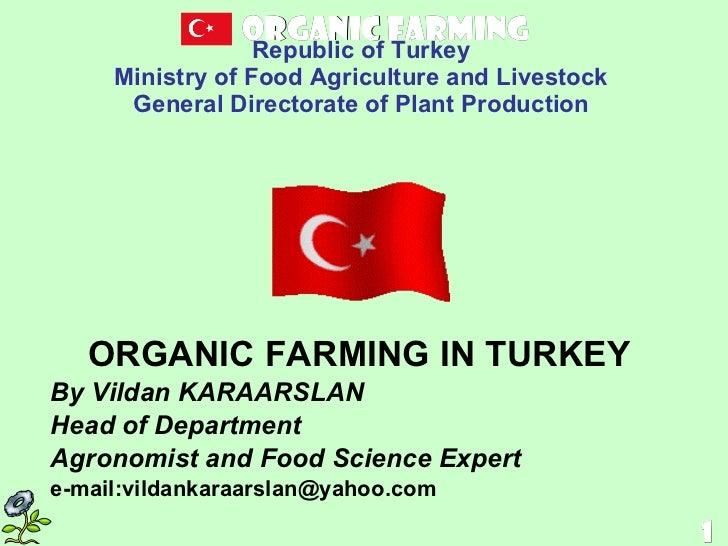 Organic Farming in Turkey