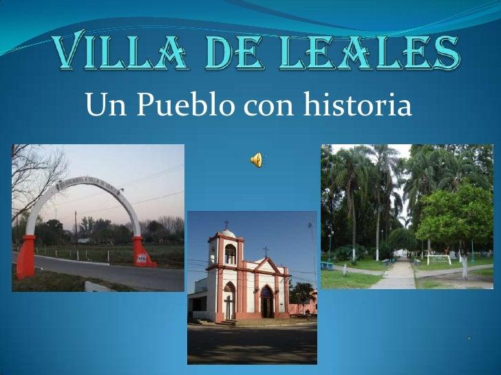 Un Pueblo con historia