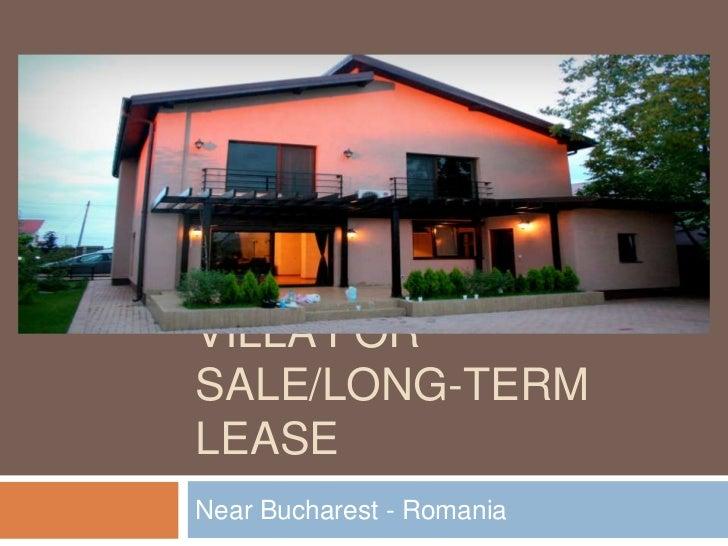 Villa for sale - Near Bucharest, Romania