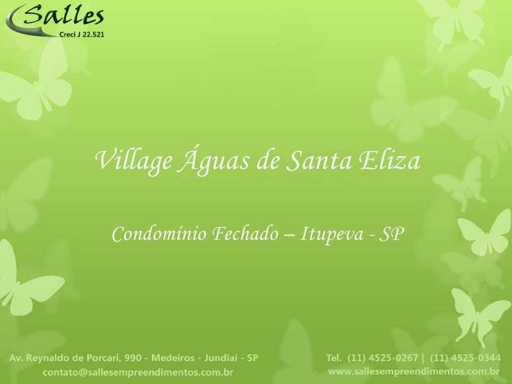 Condomínio Fechado Village Águas de Santa Eliza - Itupeva