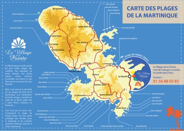 carte des plages de la martinique. Black Bedroom Furniture Sets. Home Design Ideas