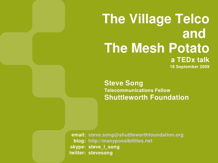 Village Telco - TEDx Newtown