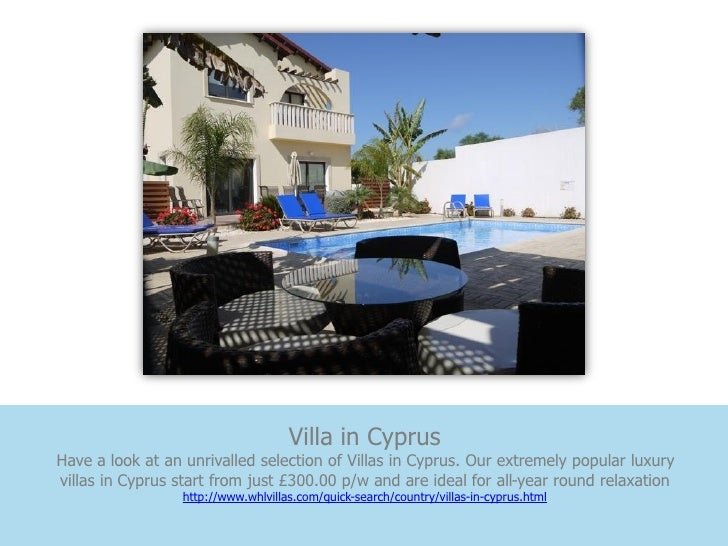 Villa in CyprusHave a look at an unrivalled selection of Villas in Cyprus. Our extremely popular luxuryvillas in Cyprus st...