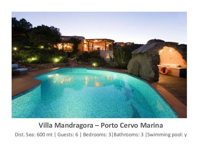 Villa Mandragora – Porto Cervo Marina Dist. Sea: 600 mt | Guests: 6 | Bedrooms: 3|Bathrooms: 3 |Swimming pool: y