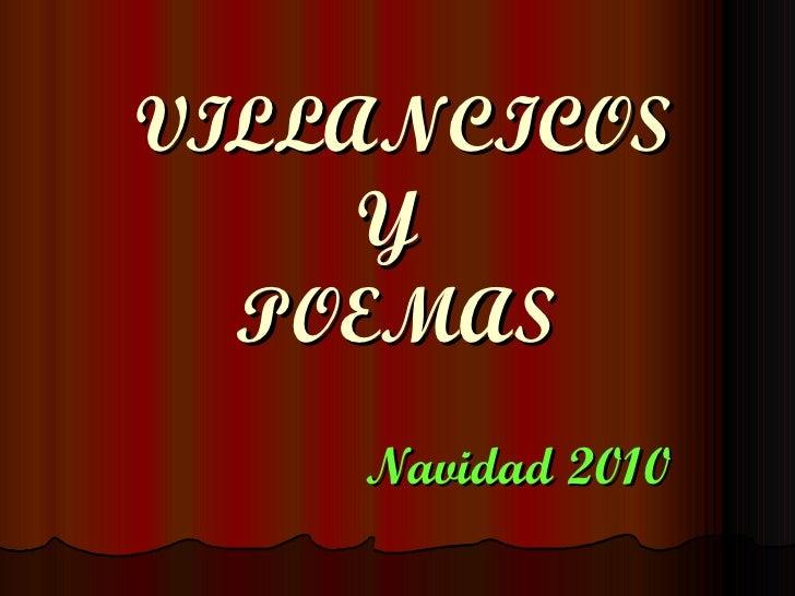 VILLANCICOS Y  POEMAS Navidad 2010