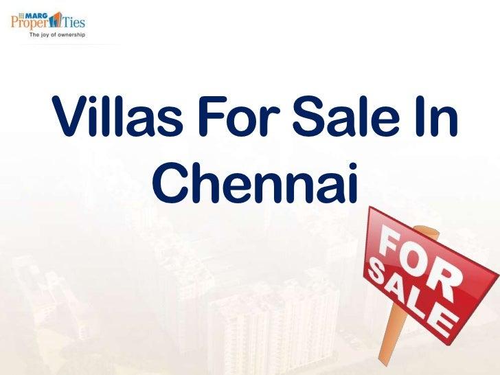 Villas For Sale In     Chennai
