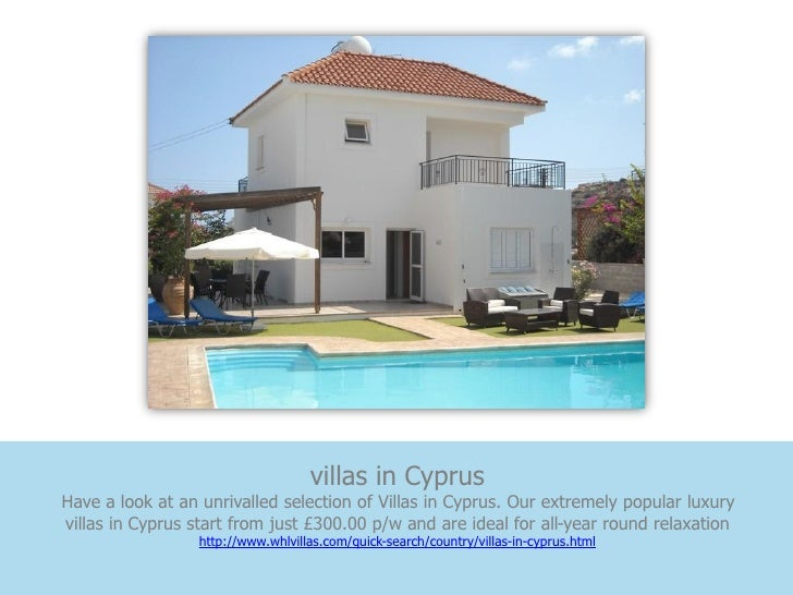 villas in CyprusHave a look at an unrivalled selection of Villas in Cyprus. Our extremely popular luxuryvillas in Cyprus s...