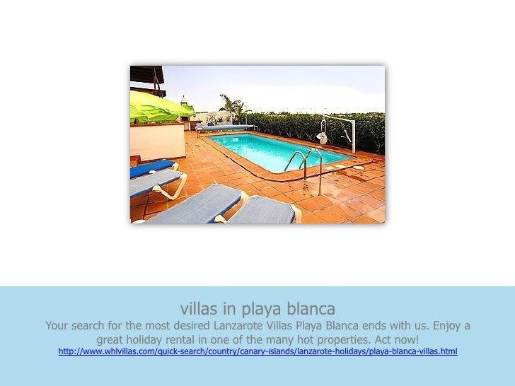 villas in playa blancaYour search for the most desired Lanzarote Villas Playa Blanca ends with us. Enjoy a          great ...