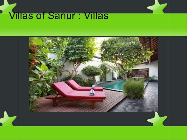 Villas of sanur : villas