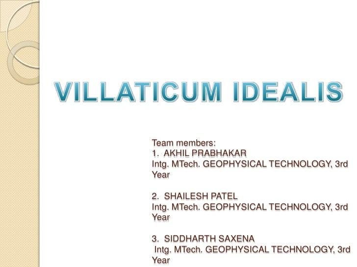 Villaticum Idealis (An ideal village near Roorkee)