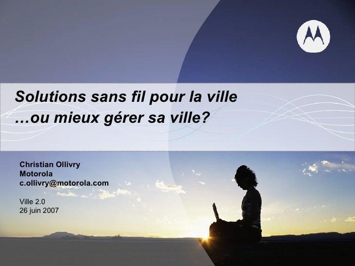 Ville 2.0 Ollivry Solutions