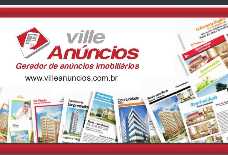 ville       AnúnciosGerador de anúncios imobiliários  www.villeanuncios.com.br