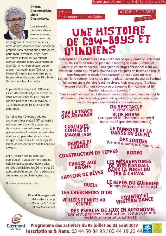 Chères Clermontoises, chers Clermontois, Une nouvelle période estivale s'annonce avec, encore une fois, un programme riche...