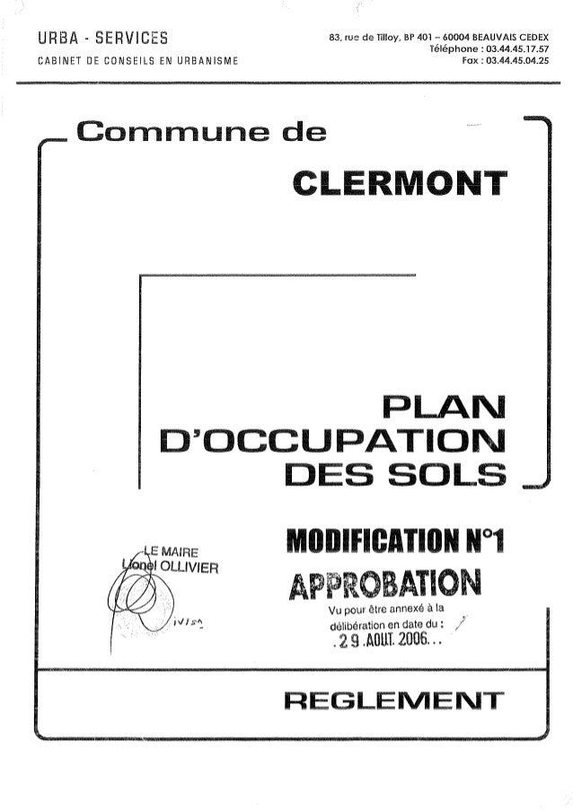 Ville de Clermont de l'Oise - POS - Zone UE