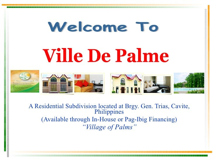 A Residential Subdivision located at Brgy. Gen. Trias, Cavite, Philippines (Available through In-House or Pag-Ibig Financi...