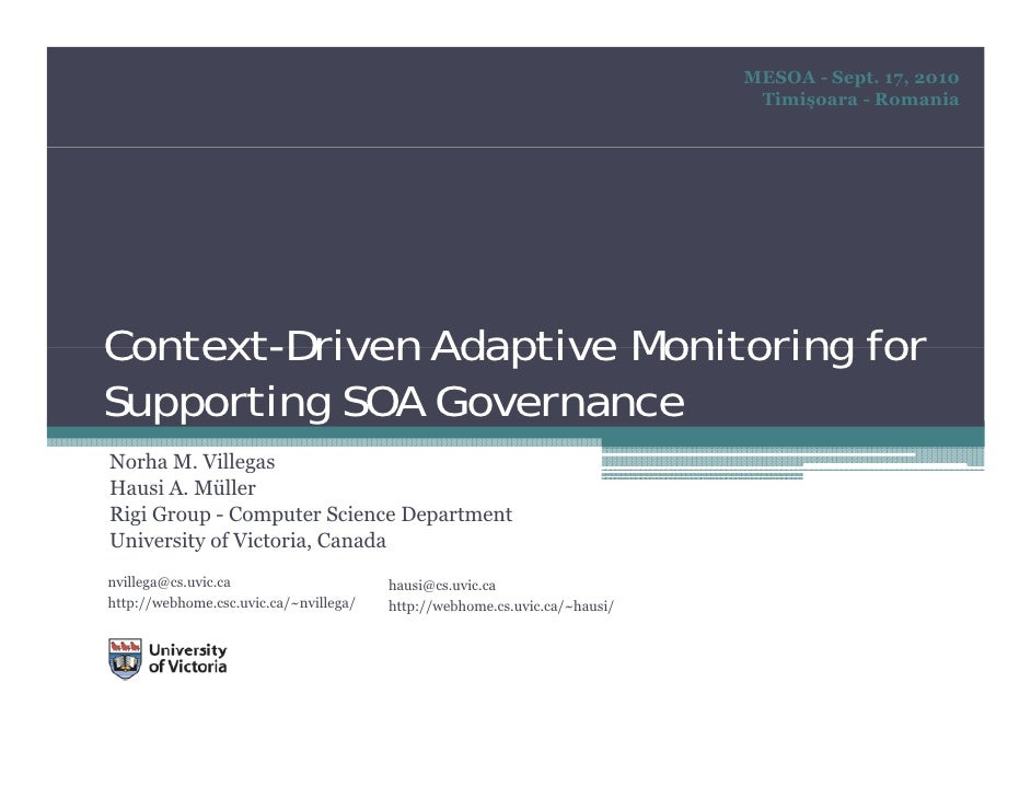 Adaptive Context Management for SOA Governance