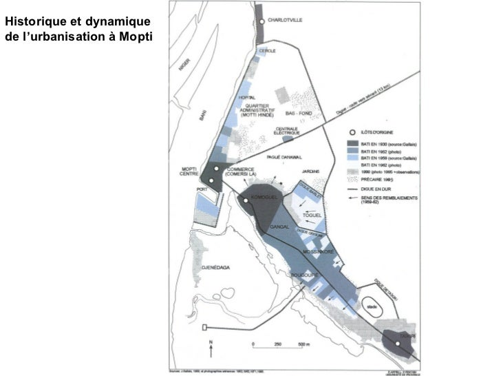 Historique et dynamique de l'urbanisation à Mopti