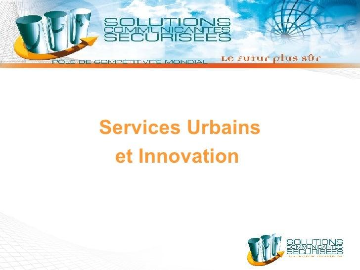 Services Urbains et Innovation