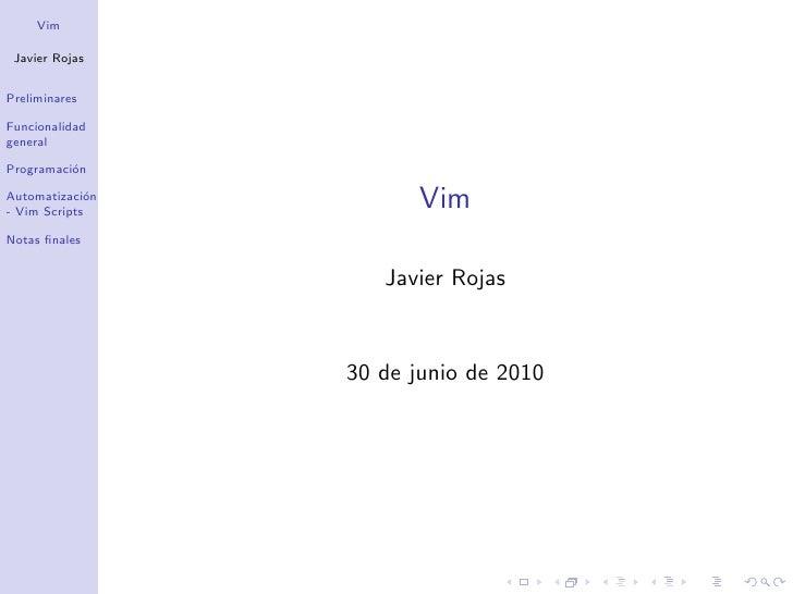 Vim slides