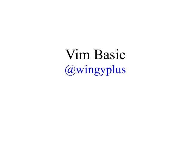Vim basic