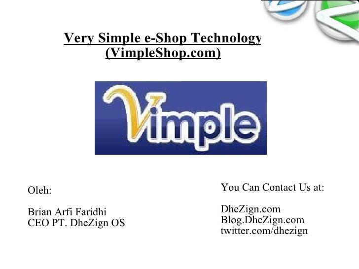 Vimple shop, Brian Arfi