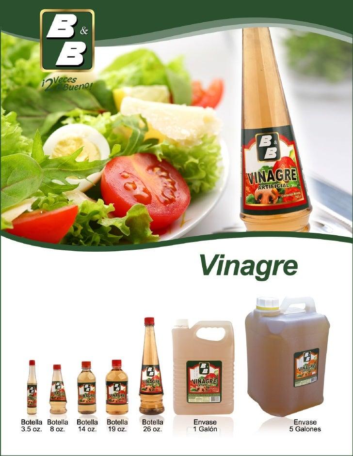 Vinagre b&b en comprabien food service