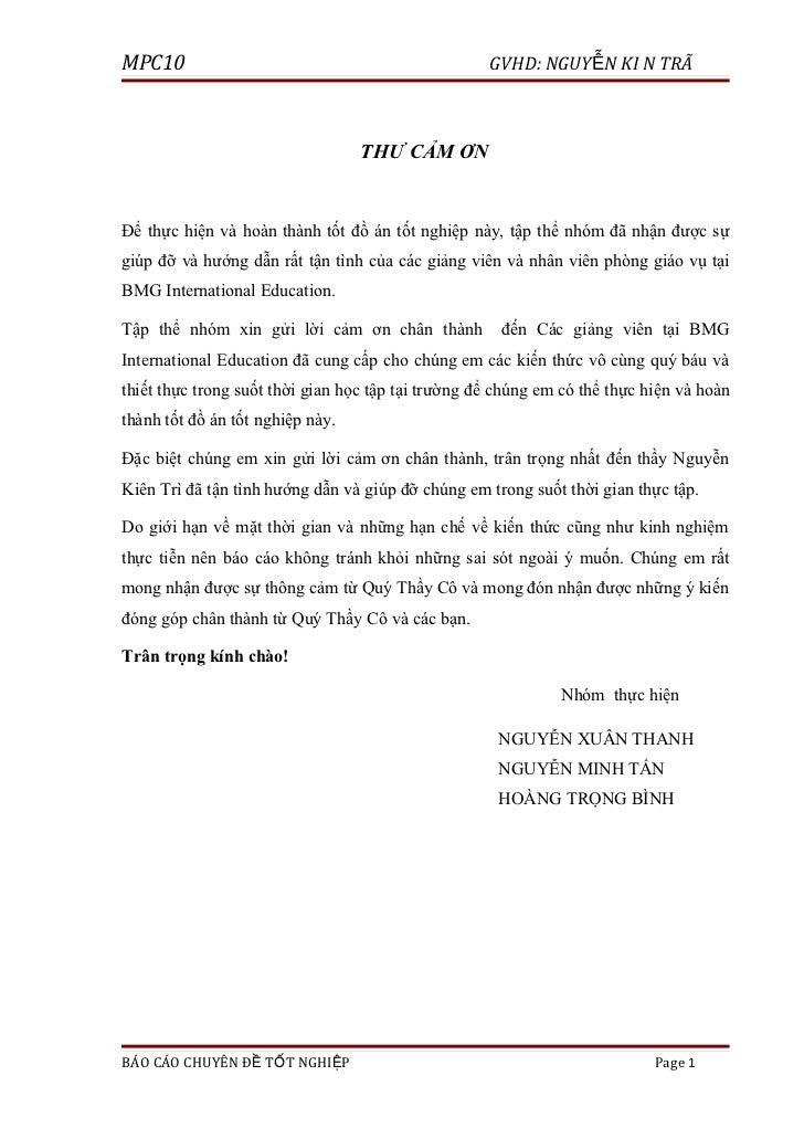 MPC10                                               GVHD: NGUYỄN KI N TRÌ                                  THƯ CẢM ƠN     ...