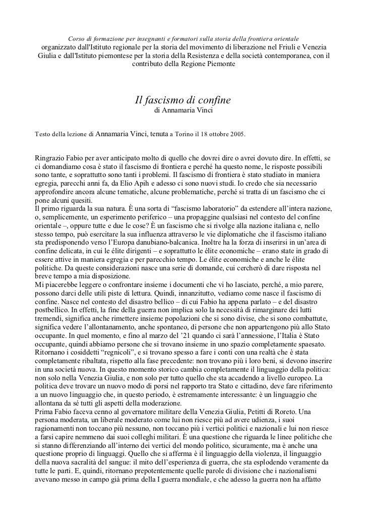 Corso di formazione per insegnanti e formatori sulla storia della frontiera orientale organizzato dallIstituto regionale p...