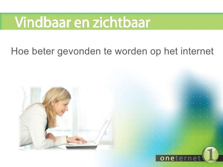 Oneternet SEO / SEM presentatie
