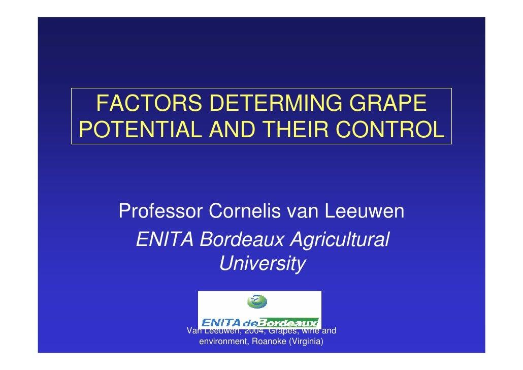 Vine grape potential byvanleeuwen