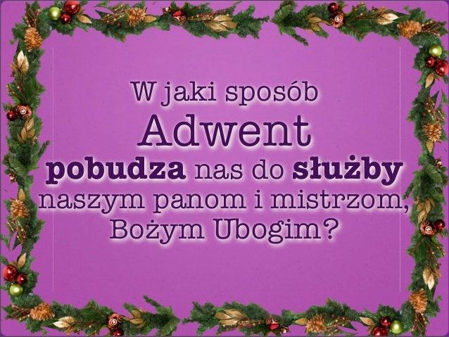 "Refleksja na temat Listu na Adwent 2012 - ""Droga do Chrystusa i naszego charyzmatu"""