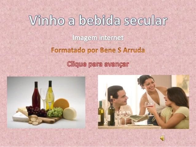 """O vinho (do grego antigo οἶνος, transl. oínos, através do latim vīnum, que tanto podem significar """"vinho""""como """"videira"""") é..."""