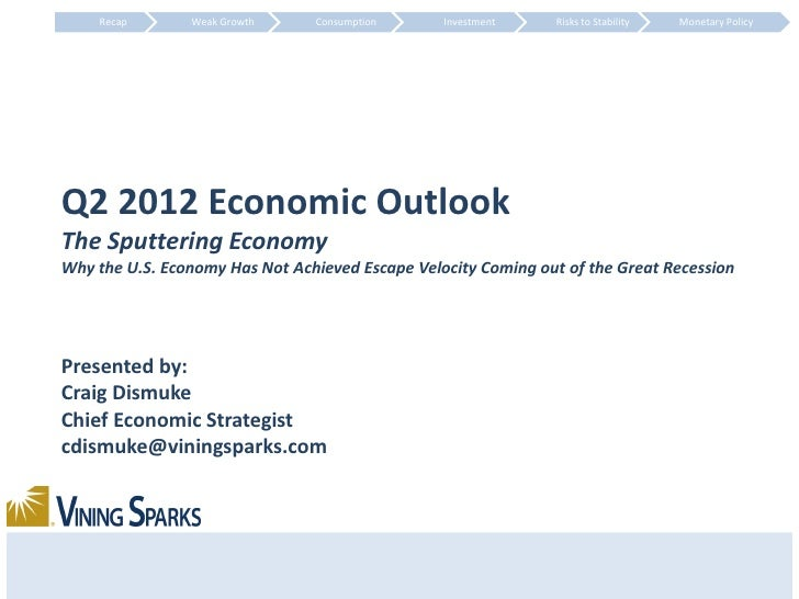 Recap       Weak Growth     Consumption      Investment    Risks to Stability   Monetary PolicyQ2 2012 Economic OutlookThe...