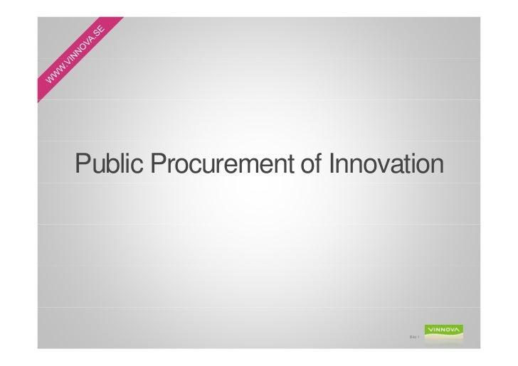 Public Procurement of Innovation                             Bild 1