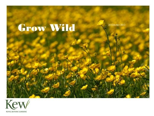 Grow Wild            24 October 2012