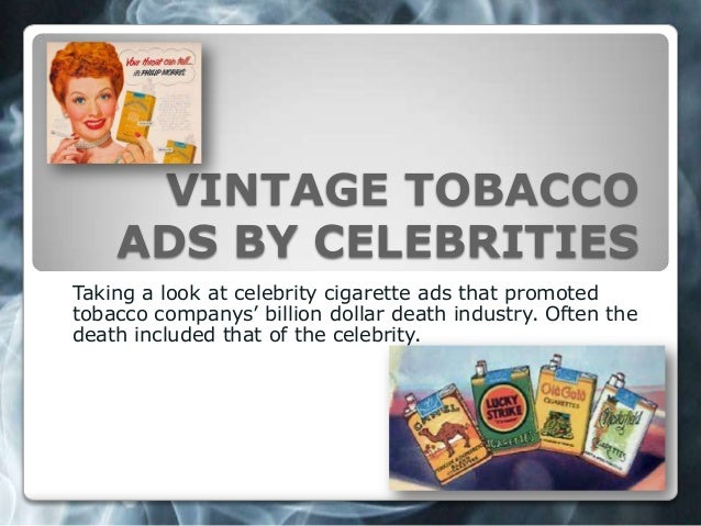 Vintage Celebrity Cigarette Advertisements