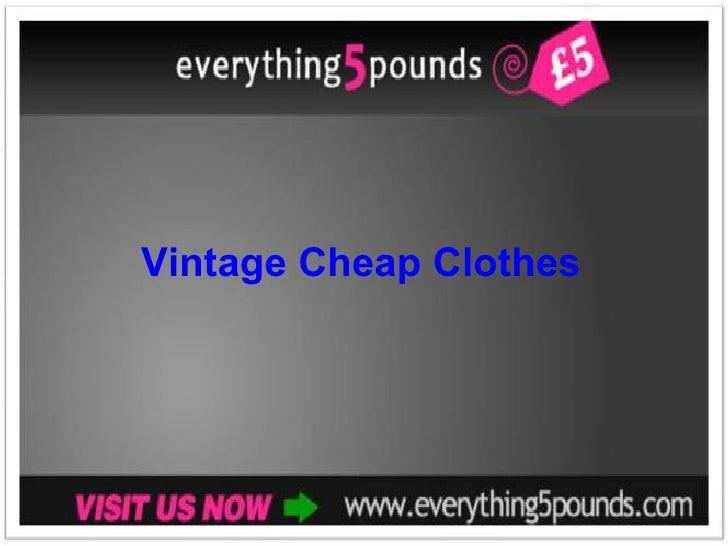 Vintage Cheap Clothes