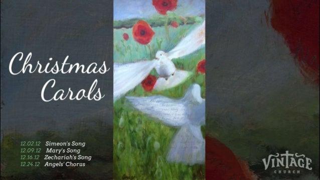 Vintage christmas carols_angels