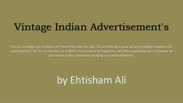 Vintage indian advertisement's