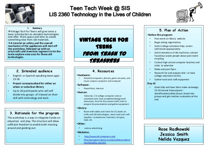 Teen Tech Week @ SIS                                   LIS 2360 Technology in the Lives of Children                1.   Su...