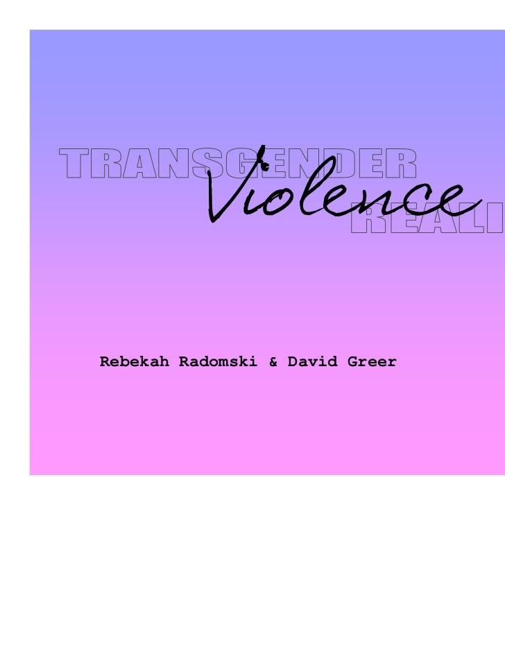 ViolenceRebekah Radomski & David Greer